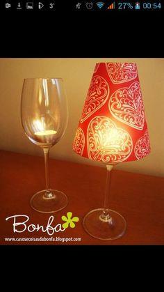 Wine glass lamp