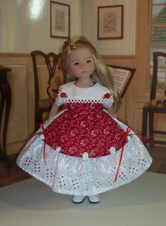 Christmas Dress for Dianna Effner's 13 Little by LittleDarlingDuds, $55.00