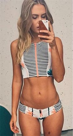Look hot in this black Striped Bikini Sets designed by CUPSHE. Find great deals and browse our full collection of bikini bottoms at CUPSHE.com.