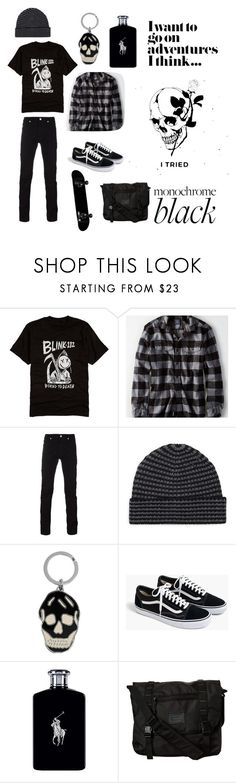 """""""Boy from the poems."""" by simplyaleksa ❤ liked on Polyvore featuring Hot Topic, American Eagle Outfitters, Versace, Saks Fifth Avenue, Alexander McQueen, J.Crew, Ralph Lauren, Burton, men's fashion and menswear"""