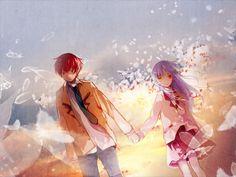 """""""Yuzuru! All that you've come to believe, let me believe it too.""""  Kanade & Yuzuru; Graduation – Angel Beats! E13"""