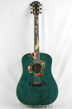 Acoustic Guitar Art, Ukulele Art, Guitar Chords For Songs, Music Guitar, Cool Guitar, Guitar Lessons, Blue Guitar, Guitar Case, Rare Guitars