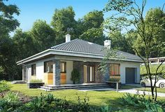 Bungalow House Plans, Modern Bungalow, Compact House, Future House, Gazebo, Exterior, Outdoor Structures, House Design, How To Plan