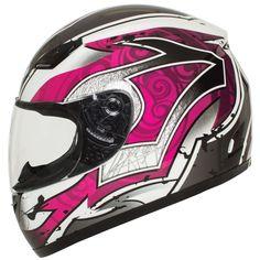 Amazon.com: BILT Women's Legacy Full-Face Motorcycle Helmet - SM, White/Pink: Automotive
