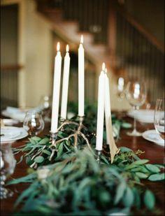 REVEL: Candles   Fresh Greenery