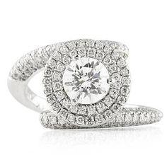 LEPOZZI ROUND DIAMOND PLATINUM ENGAGEMENT RING