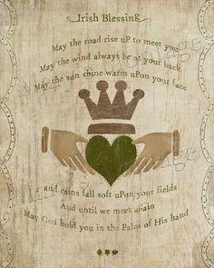 Irish Blessing, printable art, 8x10, download, St. Patricks Day