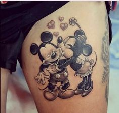 Image uploaded by Danny. Find images and videos about tattoo, disney and mickey on We Heart It - the app to get lost in what you love. Matching Disney Tattoos, Disney Sister Tattoos, Mickey And Minnie Tattoos, Mickey Tattoo, Disney Sleeve Tattoos, Mickey E Minie, Disney Couple Tattoos, Tattoo Disney, Unique Tattoos