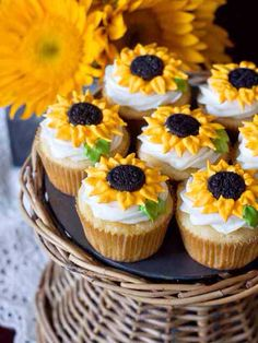 You have to see Sunflower Cupcakes With Mini Oreo Ctr on Craftsy!