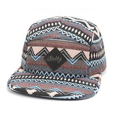 e134322fdf3d3 GP Accessories Fair Isle Pattern Multi Color Stripe Salty 5 Panel Hat Large  Black at Amazon Men s Clothing store