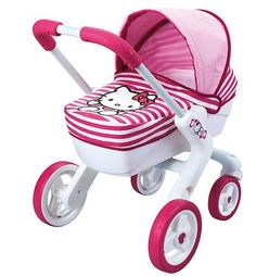Clásicos para niñas: cochecito de Hello Kitty.