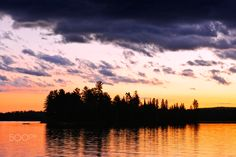 Dramatic+sunset+at+lake+-+Dramatic+sunset+at+Lake+of+Two+Rivers+in+Algonquin+Park,+Ontario,+Canada