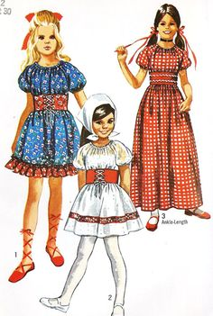 Items similar to Girls boho dress peasant dress Little Heidi style dress Octoberfest vintage sewing pattern Simplicity 9244 Sz 8 on Etsy Sewing Patterns Girls, Clothing Patterns, Vintage Patterns, Vintage Mode, One Piece Dress, Boho Dress, Girls Dresses, Maxi Dresses, Vintage Fashion