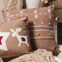 Gallery Direct Nordic Fair Isle Cushion in Brown – Next Day Delivery Gallery Direct Nordic Fair Isle Cushion in Brown from WorldStores: Everything For The Home