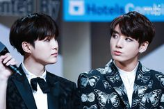 """•161202 BTS' SUGA & JUNGKOOK @ MAMA 2016    They won """"Best dance performance male group"""" and Daesang """"ARTIST OF THE YEAR"""""""