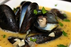 Mussels in White Wine Garlic Sauce |