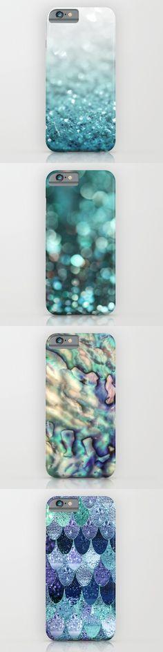MERMAID GLITTER EMERALD iPhone Case
