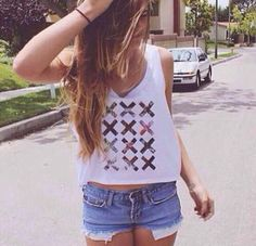 ♡I like the tank top but the shorts are too short♡