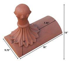 Decorative Ridge Tiles Winged Dragon End Ridgetejas Borja  Decorative Clay Roof