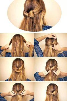 Estos son los pasos de cómo puedes hacer una forma de moño en tu cabello