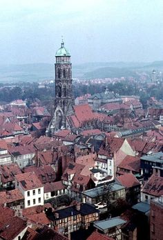 Die roten Dächer Göttingens / the red-roofed town.