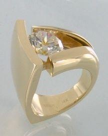14kt yellow gold design with Cubic Zirconia.  Style # 564151AC   $5,000 Robert Triska