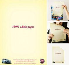 Paladar - Anúncio comestível Fiat Panda