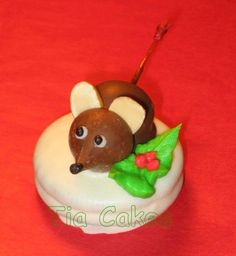 Chocolate covered cherry mice.  This is one of the cuter versions out there.  The ones with red eyes creep me out.