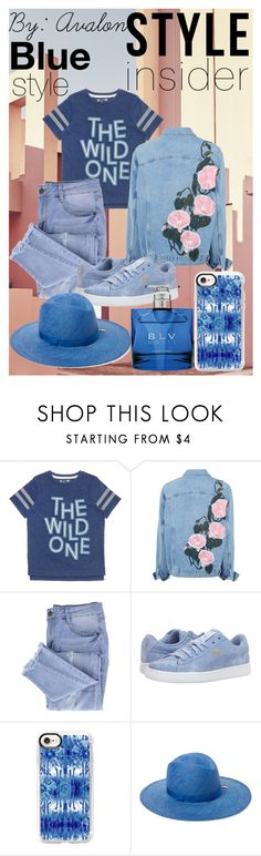 """""""Avalon's Look Book #4: The Blue Stylist"""" by lilaparks on Polyvore featuring Ricardo, Essie, Puma, Casetify, House of Lafayette and Bulgari"""