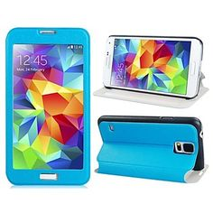 Textured Transparent Touch Front Cover Case with Stand for Samsung Galaxy S5 i9600  – USD $ 8.99