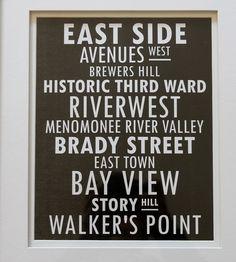Milwaukee print, walker's point, riverwest print, Milwaukee, WI artwork