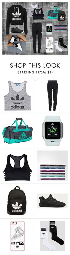 """""""Gym Apparel"""" by litleevibes ❤ liked on Polyvore featuring adidas Originals, adidas and Casetify"""