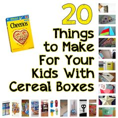 """Love the star and letters made from cereal boxes. 20 Things to Do With Your Empty Cereal Boxes (Your Toddler Will LOVE These!) - I saw this and had to pin. I am in love with the """"post"""" box for mail for your child. Craft Activities For Kids, Toddler Activities, Projects For Kids, Diy For Kids, Kids Fun, Craft Ideas, Diy Projects, Diy Organisation, Toddler Fun"""