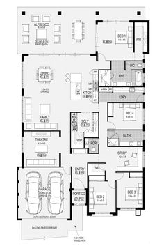 Check out the floor plan for the #SouthportPlatinum display home, designed and built by #HomeGroupWA.