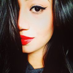 #redlips #mac #rubywoo #makeup  red lips and the perfect winged eyeliner!