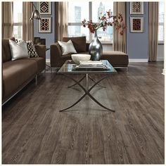 """Adura - Luxury Vinyl Tile Plank Flooring Mannington Distinctive Plank Avalon Collection   Color: Cabana Brown ...Available in a range of browns and grays to whitewashed tones, Avalon is a versatile hardwood plank visual that can complement a variety of home styles. Product Number:   Sizes: 5""""x48"""" (nominal)  Edge Style: Micro-bevel  Thickness: .157"""" (4mm)  NatureForm Optix: Yes  ScratchResist: Yes  FloorScore Certified: Yes  Installation Type: Traditional or LockSolid (Click"""