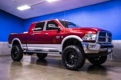 Fully Loaded 2012 Dodge Ram 2500 Laramie Mega Cab 4x4 Cummins Diesel Truck with custom lift wheel and tire package For Sale at Northwest Motorsport