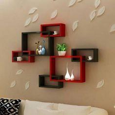 Best 50 Wooden wall shelves design ideas for modern homes 2019 Unique Wall Shelves, Wooden Wall Shelves, Wall Shelf Decor, Wall Shelves Design, Diy Wall Decor, Diy Home Decor, Living Room Designs, Living Room Decor, Bedroom Decor