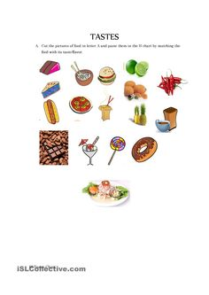A collection of English ESL worksheets for home learning, online practice, distance learning and English classes to teach about senses, 5 senses Activity Games, Fun Activities, 5 Senses Worksheet, Vocabulary Practice, English Activities, Food Tasting, Home Learning, Kindergarten Worksheets, Printable Worksheets