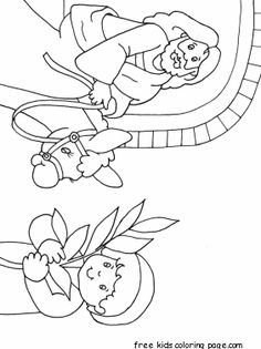 Jesus Rides Donkey Into Jerusalem Coloring Page For Palm