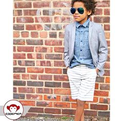 We love a chambray shirt paired with shorts and a blazer. Such a cute style for boys to sport to a fancy-ish event and a cool summer look for kids all around. Shop appaman.com for more cool kids clothing, made in NYC with love.