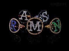 Group Diamond Rings - #digregorio_milano #diamonds #gold #finejewellery #lettering #luxury