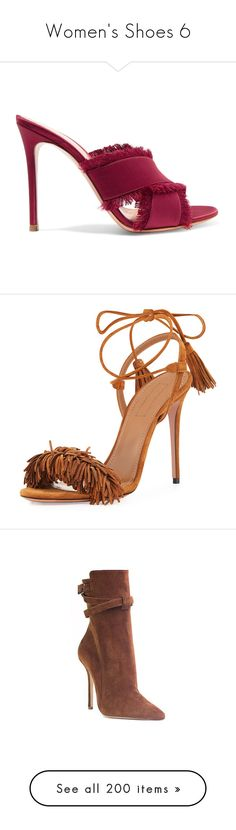 """""""Women's Shoes 6"""" by efiaeemnxo ❤ liked on Polyvore featuring shoes, heels, pumps, sandals, heeled mules, satin shoes, cocktail shoes, slip on heels shoes, satin evening shoes and cognac"""