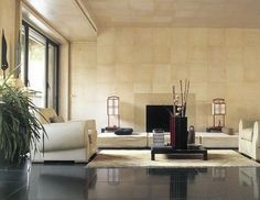 Giorgio Armani-Lounge-Milan Apt-Nuevo Estilo - the walls make the difference!!