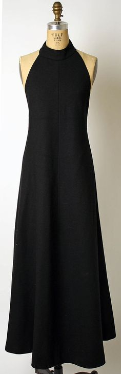 Dress  Anne Klein (American, 1923–1974)  Design House: Anne Klein and Company (American, founded 1965) Date: ca. 1973 Culture: American Medium: wool