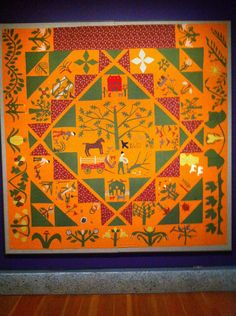 Love the cheddar, green and red in this quilt.  American Folk Art Museum, NY