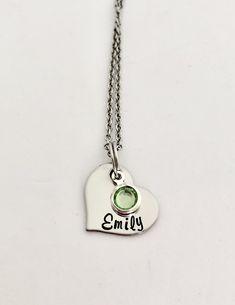 Hand Stamped Necklace, Silver, Jewelry, Jewlery, Jewerly, Schmuck, Jewels, Jewelery, Fine Jewelry