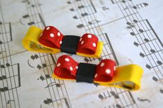 Red Yellow and Black Mickey Mouse Tuxedo by GlitterAndGrosgrain, $3.00