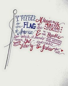 Free hand-lettered flag printable for the Fourth of July or Memorial Day Patriotic Crafts, July Crafts, Patriotic Quotes, I Pledge Allegiance, Independance Day, Let Freedom Ring, Thing 1, Allegiant, Insurgent Quotes