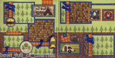 THE GREAT OUTOORS ~ camping 2 premade scrapbook pages 12x12 CHERRY scrapbooking